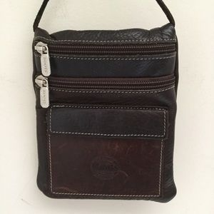 ROOTS Two-tone brown crossbody mini